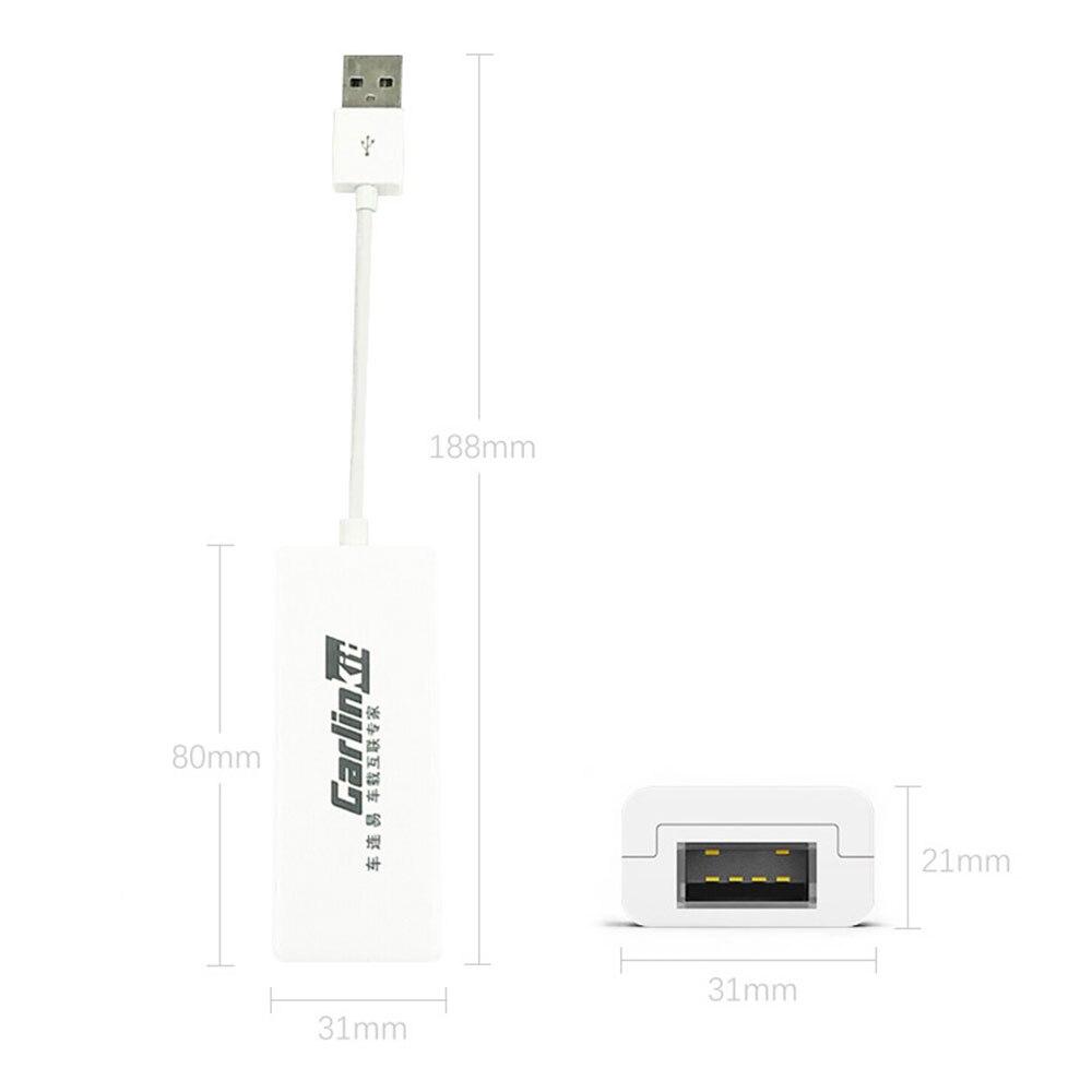 Lien de voiture USB Dongle lien dongle universel lien automatique Dongle Navigation lecteur USB Dongle blanc Portable intelligent pour Apple CarPlay - 4