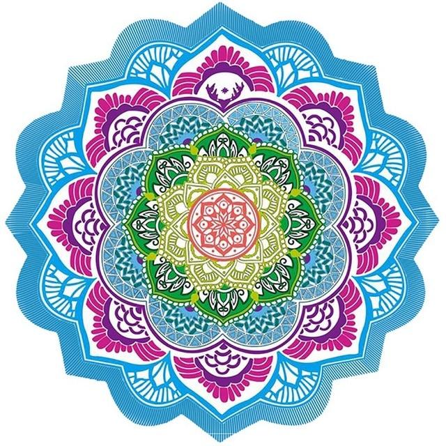 Hot Beach Towel Tassel Yoga Mat Carpet Tapete Doormat Tapestry Indian Mandala Blankets Bathroom Carpet Camping Mattress 7 Color 5