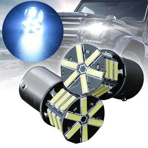 Image 4 - New Pair BA15S 1156 7020 21LED Light Tail Backup Reverse Brake Turn Signal Light Bulb White