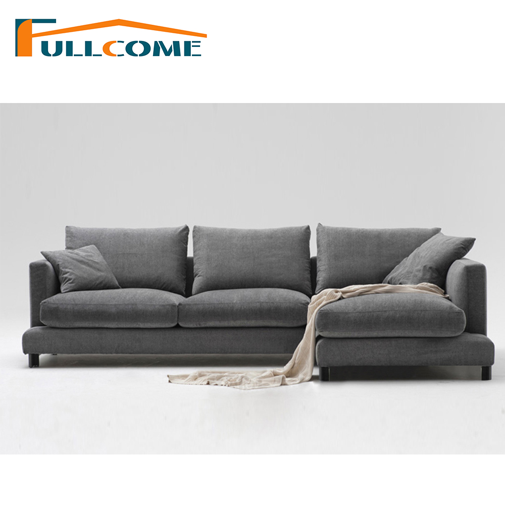Luxury Home Furniture Modern Fabric Scandinavian Sofa Set Living Room Furniture Feather Italian Corner Sectional Sofas Chair circular arc sofa half round furniture healthy pe rattan garden furniture sofa set luxury garden outdoor furniture sofas hfa086
