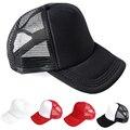 Blank Curved Visor Hat Plain Baseball Cap Solid Trucker Mesh Adjustable Men New