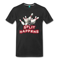 Bowling Split Happens Men S T Shirt Tops Men T Shirt Shirts Summer Short Sleeve Novelty