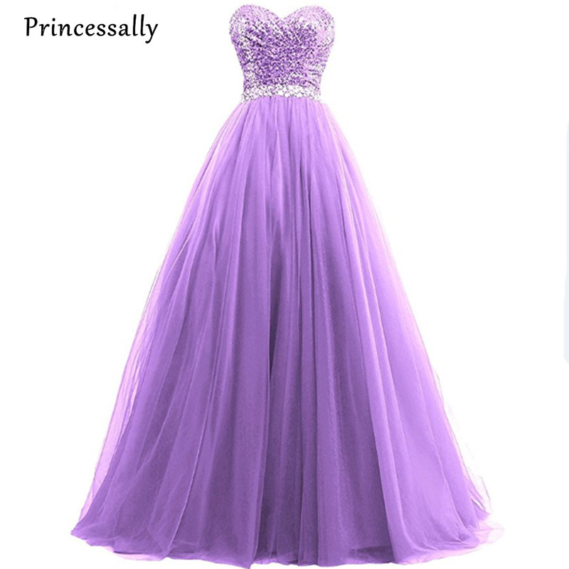 Strapless Sleeveless Sequined Purple Sweetheart Ball Gown Princess Bride Wedding Dresses Winter Delicate Elegant Wedding Gown