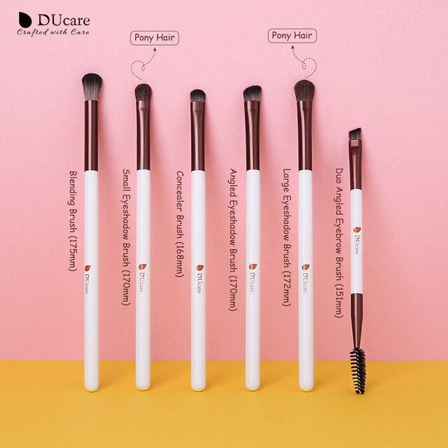 DUcare Eyeshadow Brush 4/6/7/8PCS Makeup Brushes Blending Eyebrow Brush Nature Bristles Synthetic  Hair Eye Shadow Brush Set 2
