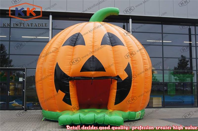 Commercial inflatable dome moonwalk inflatable pumpkin font b bouncer b font