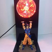 Dragon Ball Goku силовые бомбы ночник Креативный светодиодный настольный светильник для спальни кабинет Декор новинка подарок для детей игрушки Фигурки подарок