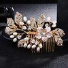 QYY Fashion Pearls Gold Wedding Hair Accessories Flowers Bridal Hair Jewelry Hair Pins Pearl Clips for Women Headpieces 5