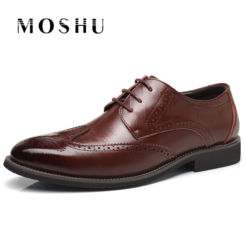 Men Flats Genuine Leather Dress Shoes Brogue Oxford Lace Up Summer Male Casual Shoes Black Brown Size 38-47 сорочка и трусики livia corsetti lourdes l xl