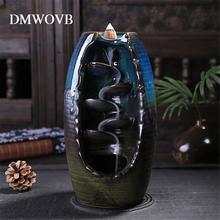 DMWOVB Incense Burner Ceramic Aromatherapy Furnace Smell Aromatic Home Office Censer Cone Holder Craft Ornament Home Decor
