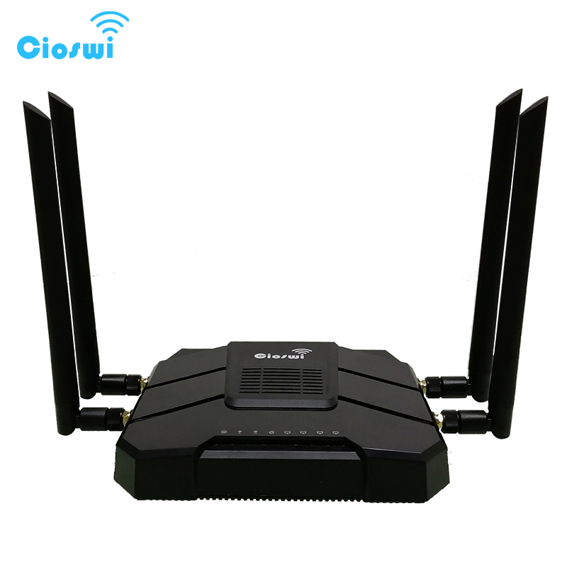 Cioswi Hotspot 4g Unlocked Gigabit Router With Sim Card 4G Modem Dual-core Dual Band 2.4G/5GHz Wifi Router with 4 Antenna cioswi we1326 1200mbps gigabit router wifi repeater 5ghz openwrt 4g lte router modem 4g wifi sim card mt7621a 11ac dual band