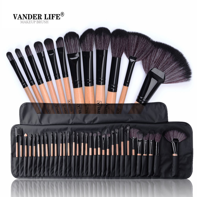 32ba335eb5bf US $13.88 |32Pcs Brand Makeup Brushes Professional Cosmetic Make Up Brush  Set Best Quality Face Lipstick Eyeshadow Beauty Tool maquiagem-in Eye  Shadow ...