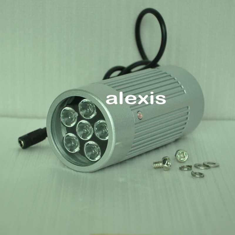 6 fort 850nm DC12V 12 W IR LED caméra auxiliaire lumière auxiliaire pour Surveillance CCTV caméra 15 m-80 m infrarouge LED, usine en gros