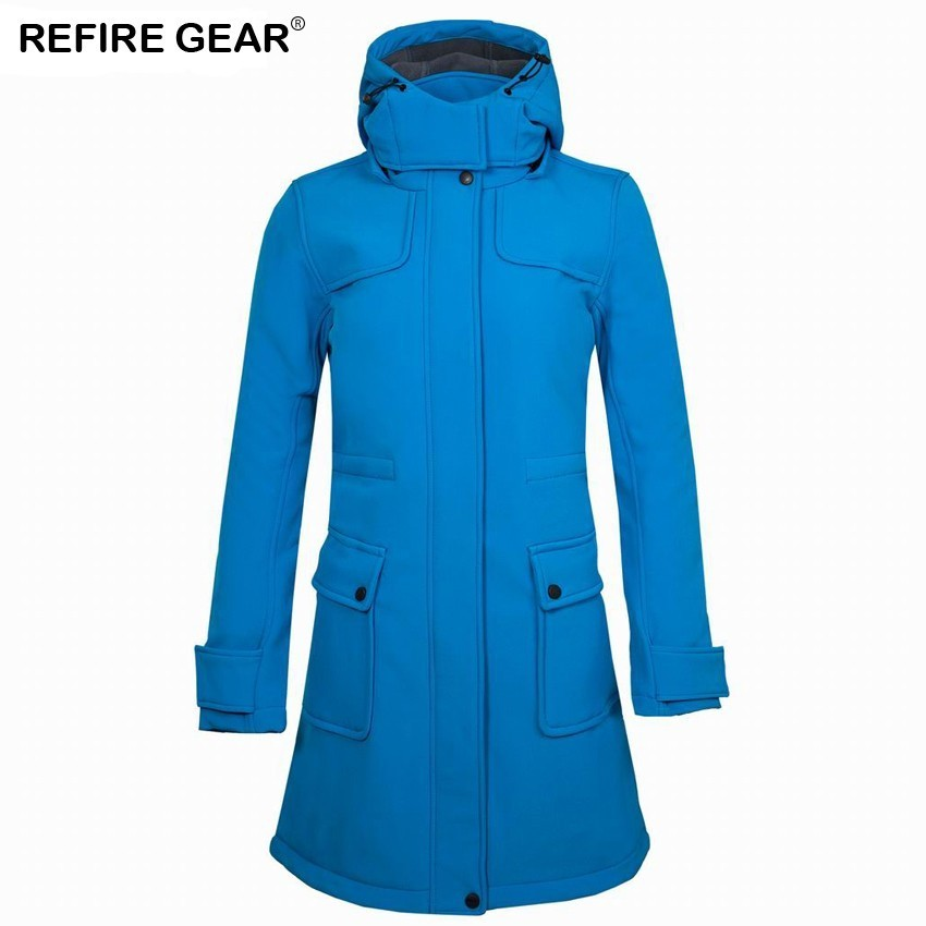 Refire Gear Winter Fleece Softshell Jacket Women Outdoor Long Windbreaker Hiking Camping Trekking Climbing Skiing Coats потолочный светильник toplight rosamond tl9421y 01wh