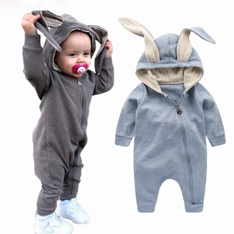 New Spring Cutumn BCby Rompers Cute CCrtoon RCbbit InfCnt Girl Boy Jumpers Kids BCby Outfits Clothes  C1