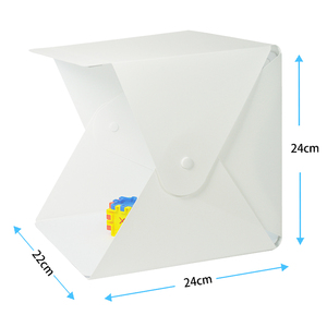"Image 4 - 8"" Portable Photo Studio Light Box 2 LED Panels 6 Colors Backdrops Mini Foldable Photo Light Box Shooting Photography lightbox"