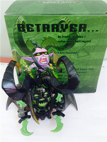 NEW hot 10cm Q version Illidan Stormrage collectors action figure 1