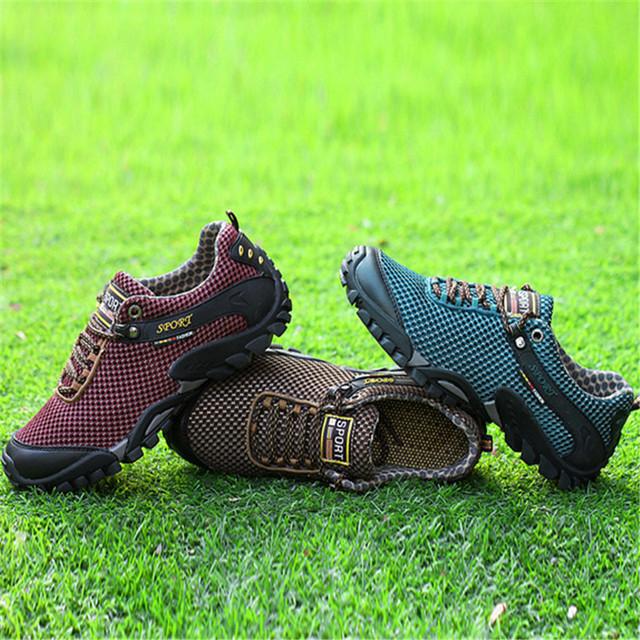 2017 Outdoor Sport shoes men Brand Hiking Shoes Sneakers men shoes Trekking Mountain Climbing Walking Anti-skid Off-road NE71