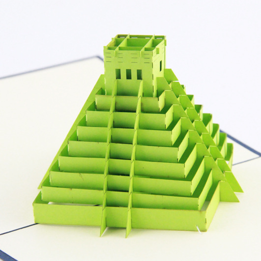 Qubiclife cubic life 3D Maya Pyramid stereo cards creative handmade paper the construction of taj mahal tourism 3d cubic life manual paper card card creative stereo