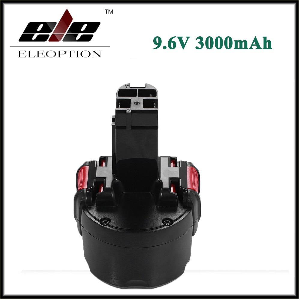 Eleoption BAT048 9.6 V 3000 mAh Ni-MH Rechargeable Batterie pour Bosch PSR 960 2 607 335 272 32609-RT BPT1041