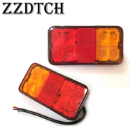 ZZDTCH 2PCS 12V 8 Led Truck Tail Lamp used for BENZ VOLVO SCANIA MAN RENAULT IVECO truck Trailer Bus tail lights