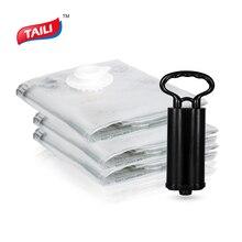 Bolsa de vacío para ropa con bomba, organizador de armario ropero, bolsa de almacenamiento de equipaje plegable, bolsa de plástico de compresión para ahorrar espacio