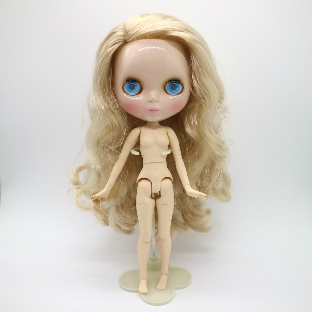Factory Blyth Dolls Blonde hair wave hair Blyth Dolls Joint Body DIY BJD toys Fashion 19 Joints white skin toy for Girl top quality brazilian body wave 3 5pcs lot 613 blonde virgin hair grade 6a 100 unprocessed hair fast delivery by dhl