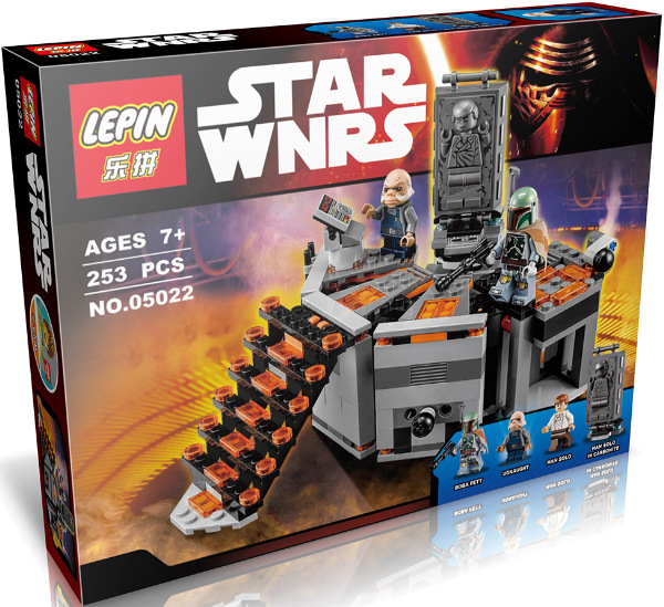 Compatible With Legoe 75137 font b lepin b font 05022 StarWars Han Solo Carbon Freezing Chamber
