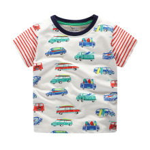 цена на Boys Tops Summer 2019 100% Cotton Children Short sleeve T shirts Boys Clothes Kids Tee Shirt Cartoon car Print Baby Boy Clothing
