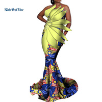 Dashiki African Dresses for Women Bazin Riche Long Party Evening Dresses Women African Clothing Petal Pearls Dresses WY3466