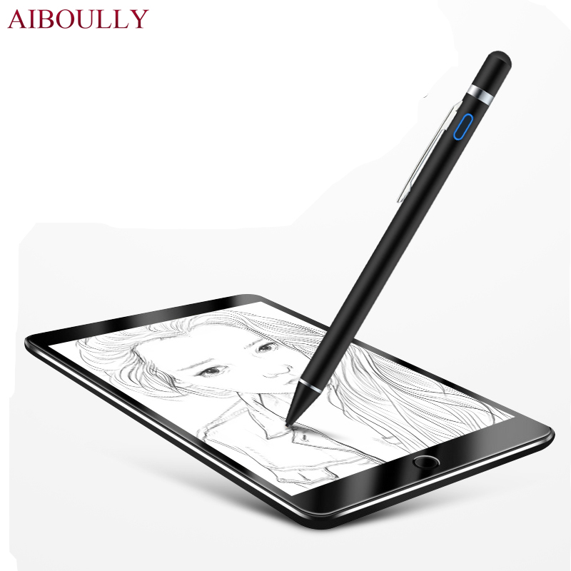 finest selection 710f5 d09d2 US $26.79 33% OFF|New Pen stylus Nib Active Capacitive Screen Stylus pen  for Apple iPad pro 10.5 9.7 for iphone 8 iphone X Touch Pen Metal Pencil-in  ...