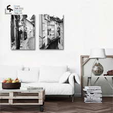 CREATE&RECREATE Modern Poster Venice Posters And Prints Canvas Art Black White Wall Painting Decorative Pictures CR1810111002
