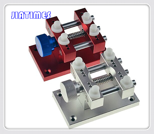 1pc Large Metal Watch Case Holder Adjustable Watchmakers Vice Tool for Wristwatches Repair цена