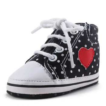 Delebao 2018  New Design Love Heart Baby Boy Shoes Spring/Autumn Infant Toddler First Walkers