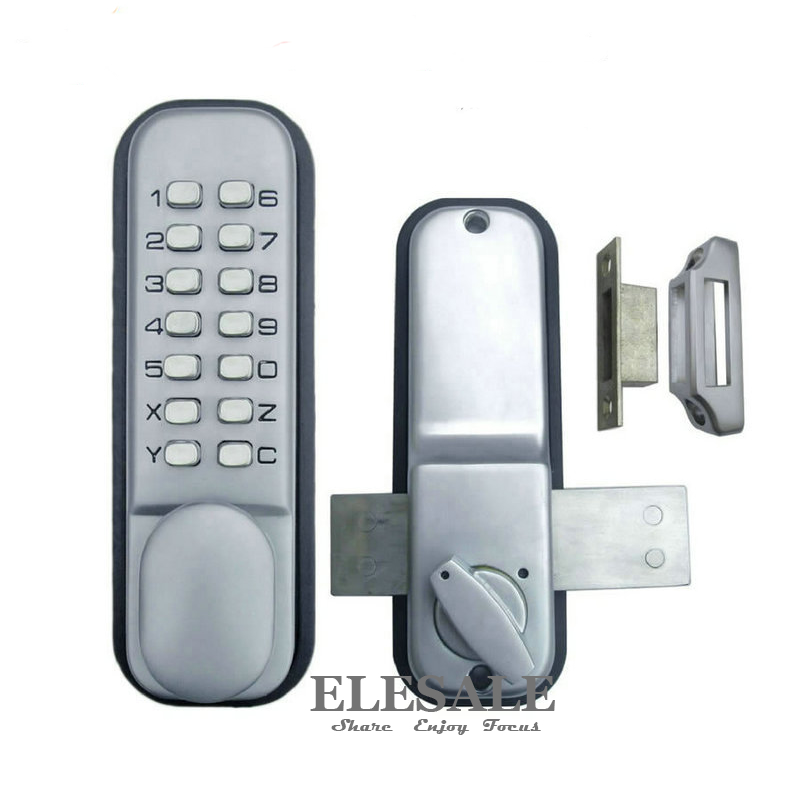 ФОТО Brand New Zinc Alloy Keyless Mechanical Door Lock With Combination Digital Code Password Entry Lock For Home Security