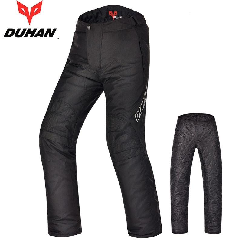 DUHAN Men Windproof Summer Winter Pants Motorcycle Motocross Cycling Trousers Oxford Straight Motorbike Warm Long Pants