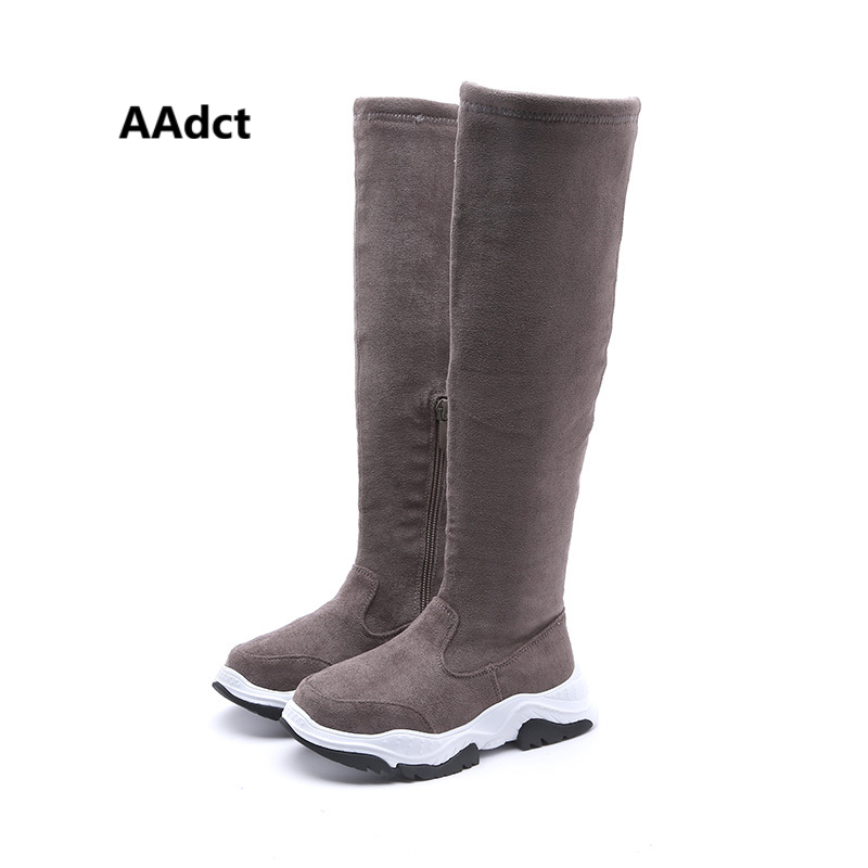 AAdct Cotton warm high boots for girls New fashion children boots 2018 Winter kids boots