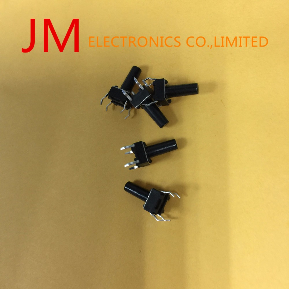 1000 Pcs 6x6x12mm 4 Pins DIP PCB Momentary Tactile Tact Push Button Switch