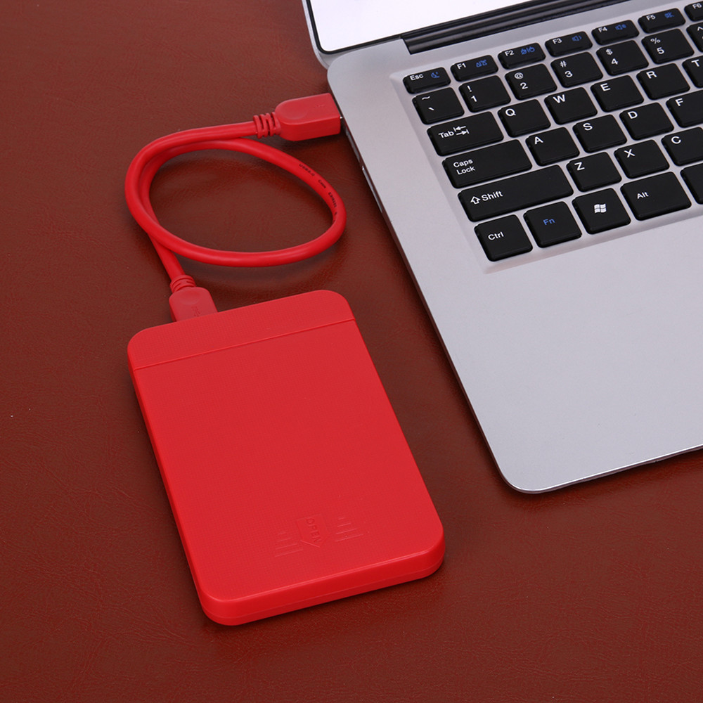 """MEMTEQ 2.5"""" USB 3.0 SATA Hard Drive External Enclosure Gaming Accessories HDD SSD Disk Box Case 3TB 6Gbps Lightweight Red New"""