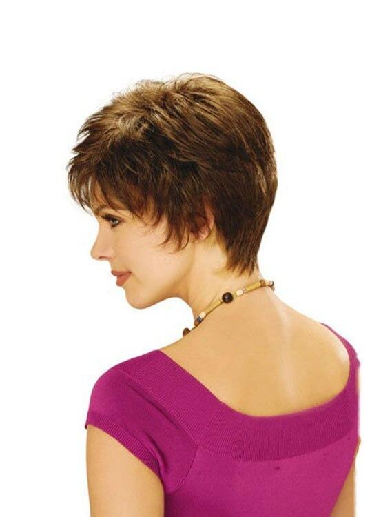 Pixie cut gaya rambut pendek blonde wig Sintetis wig rambut alami dengan  poni penuh rambut Lurus Tahan Panas untuk womens di dari AliExpress.com  66419ea5b6