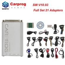 Carprog V10.93 pełny zestaw ze wszystkimi 21 pozycji adaptery ECU programista ECU Chip tuning narzędzie do napraw samochodowych Airbag reset Car prog 10.05