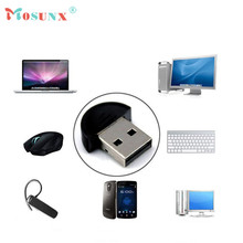 Factory Price New Mini USB Bluetooth Dongle Adapter for Laptop PC Win Xp Win7 8 iPhone 4GS 5GS 51102 P14