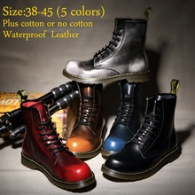 Centenary High Quality Genuine Leather Men and Women Martin Boots Marten Dr Designer Motorcycle Boots Waterproof Ankle Boots