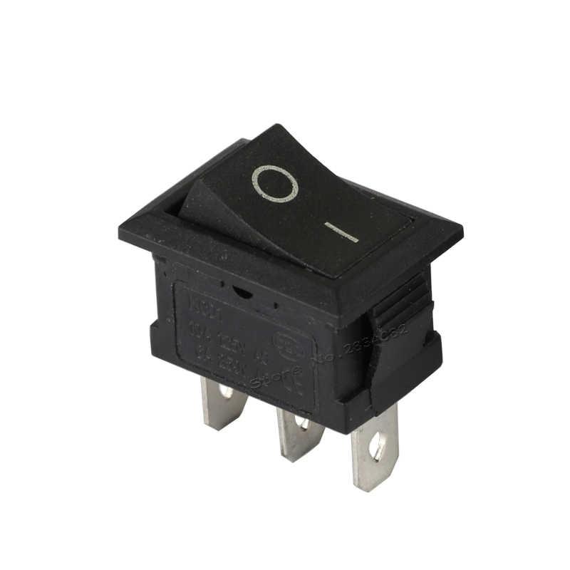3 контакты 6a/250vac 10A/125vac SPDT Рокер Лодка переключатель 2 Положение 2 файлы на Off фиксации прямоугольник выключатель питания медные Pin 2 цвета