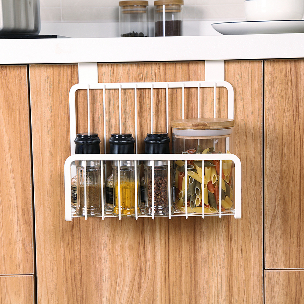 Wall mounted kitchen rack bathroom door back frame kitchen cabinet hanging seasoning bottle storage rack wx8081934