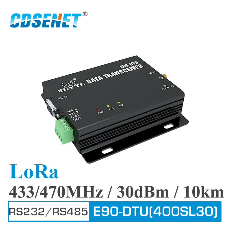 E90-DTU-400SL30 LoRa Relay 30dBm RS232 RS485 433MHz <font><b>470MHz</b></font> Modbus <font><b>Transceiver</b></font> and Receiver LBT RSSI Wireless RF <font><b>Transceiver</b></font> image