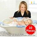 10 unids ajustable alta qualityBaby del cabrito del niño del niño recién nacido de seguridad SecurityShower asiento de bañera de hidromasaje soporte Net cuna cama