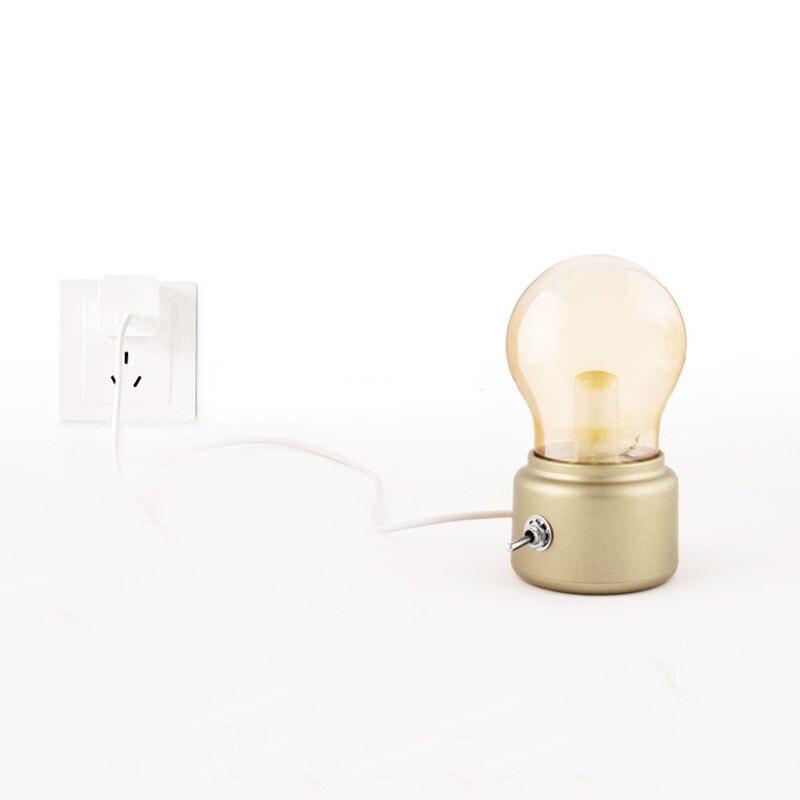 Luzes da Noite usb criativo noite luz retro Room Lamp : Bedroom Lamp
