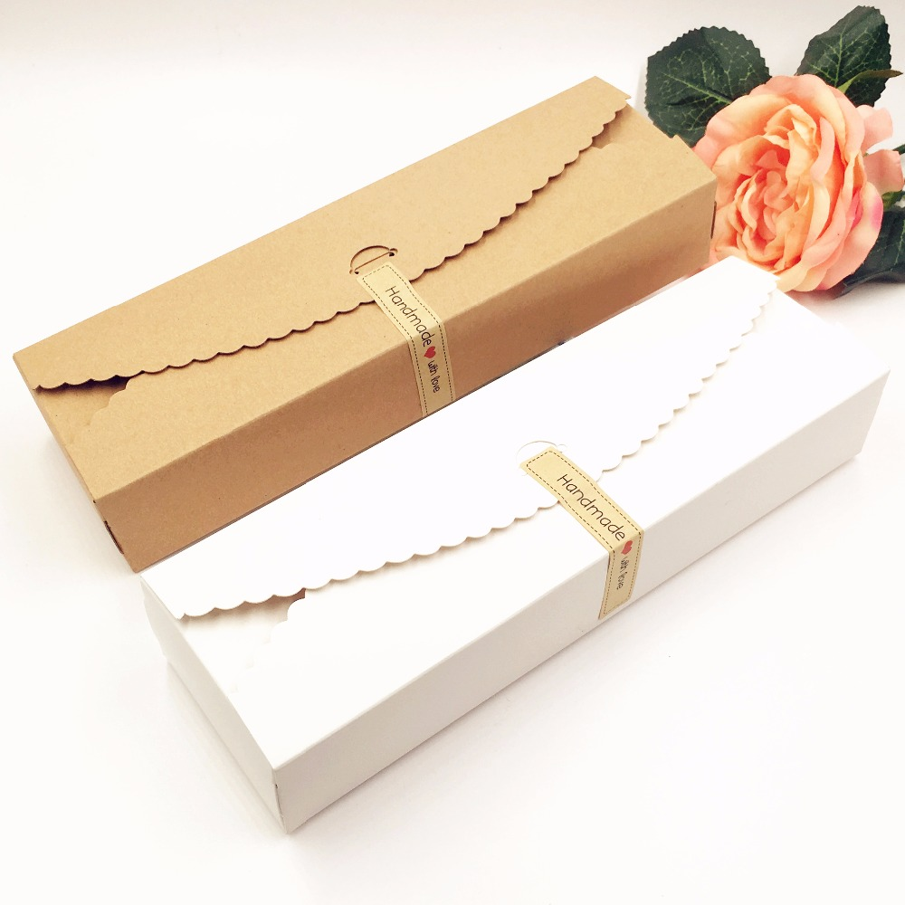 20pcs/lot  Kraft Gift Boxes Paper Handmade Candy /chocolate Packing Box Blank Storage DIY Wedding Cake Boxes 23*7*4cm