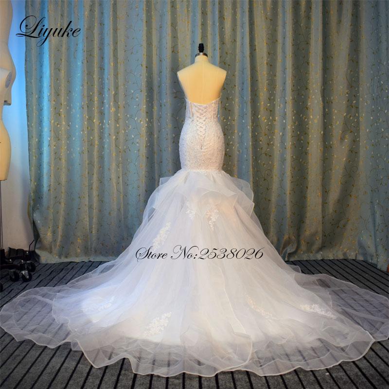 Av axeln Sweetheart Neckline Mermaid Wedding Dress 2017 Ansikter - Bröllopsklänningar - Foto 4
