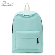 Lemon Kitten Japanese Canvas Solid School Bag Backpack For Women Young Girl Backpacks For Adolescent Girl Female Women Backpacks